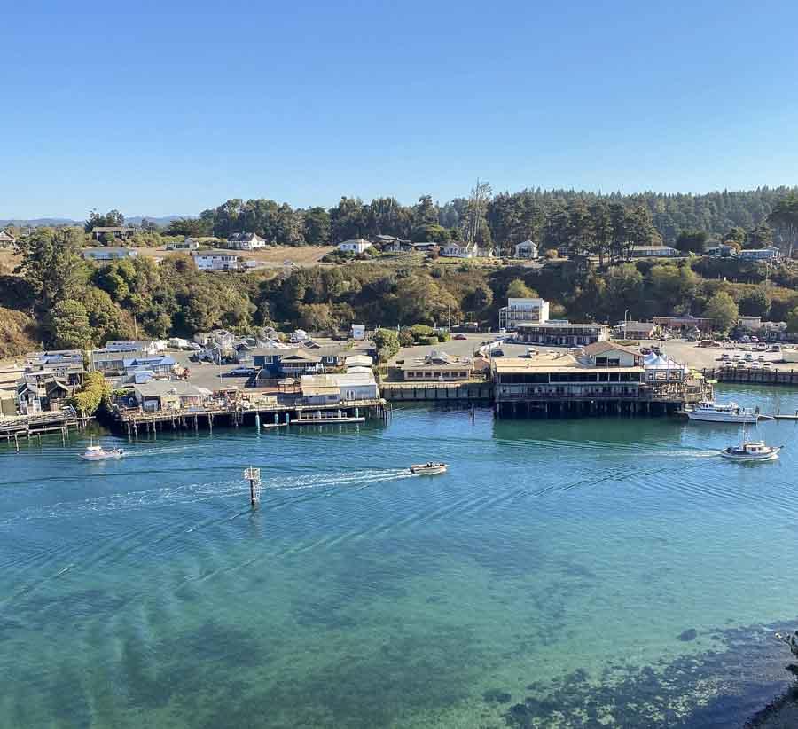 Noyo Harbor and river area