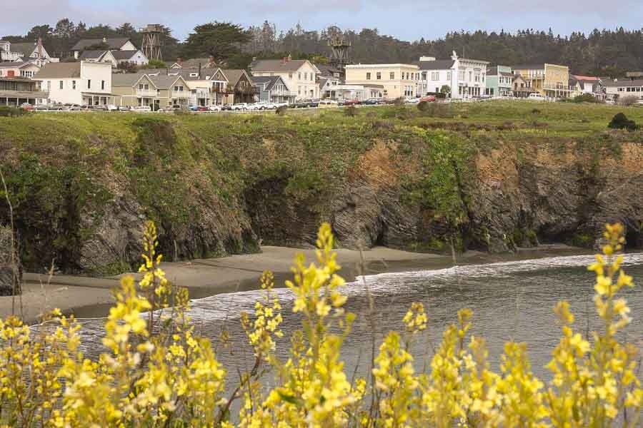 Mendocino town and surrounding areas