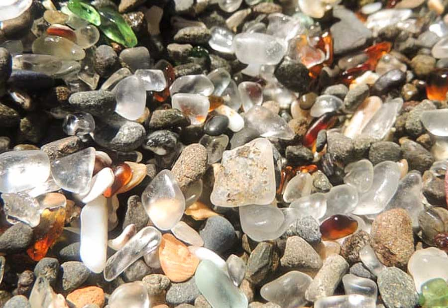 What you can find now at Glass Beach