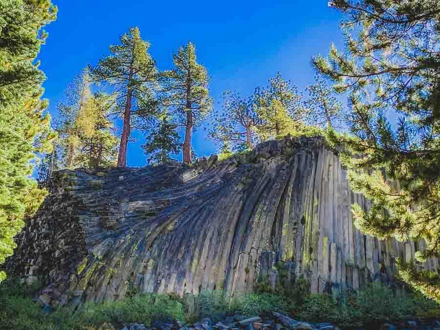 A visit to Devils Postpile in the Eastern Sierras