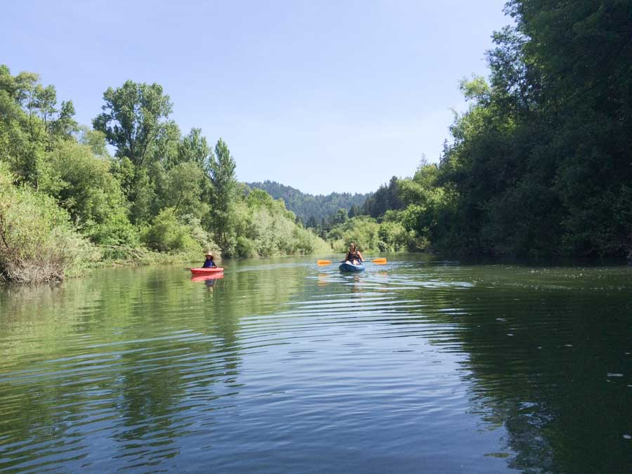 Go kayaking or sup boarding or beach time on the River