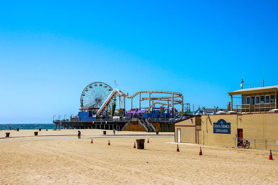 Santa Monica Beach and Piers